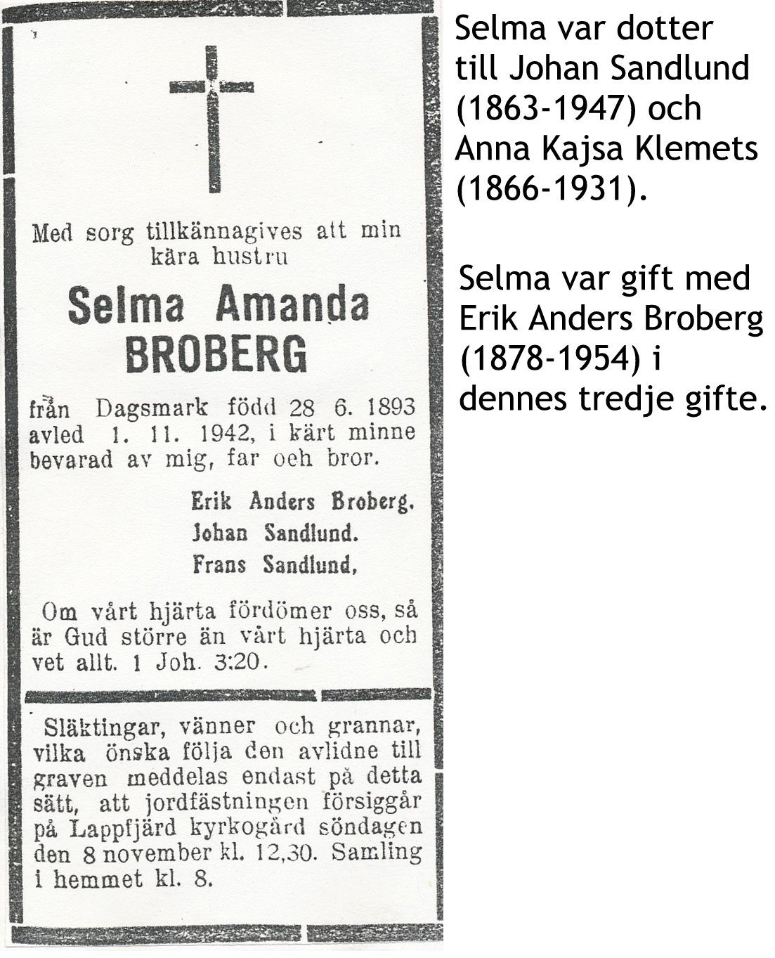 Broberg Selma Amanda