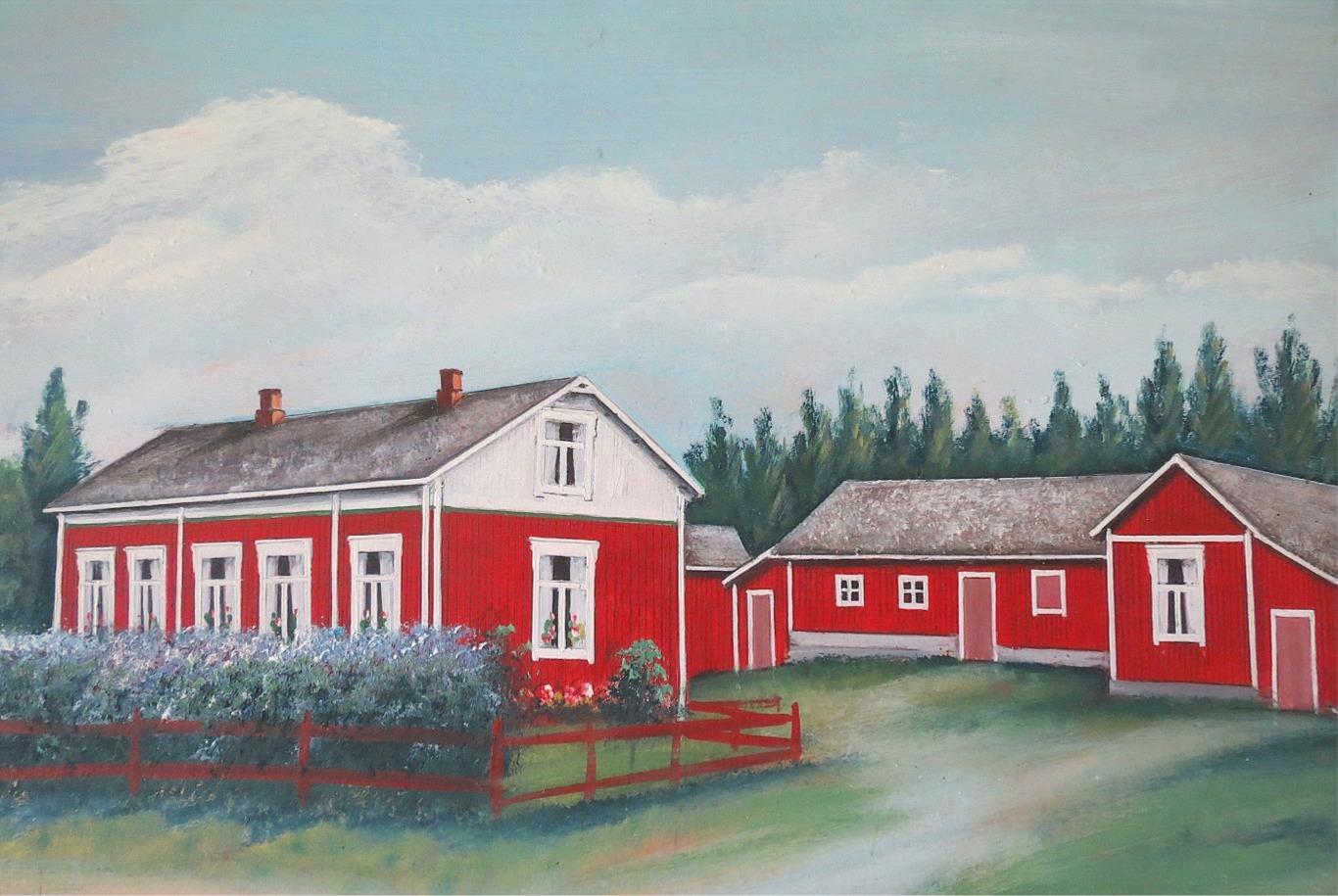 Johan Viktor Berglunds gård enligt konstnären Rosblom.
