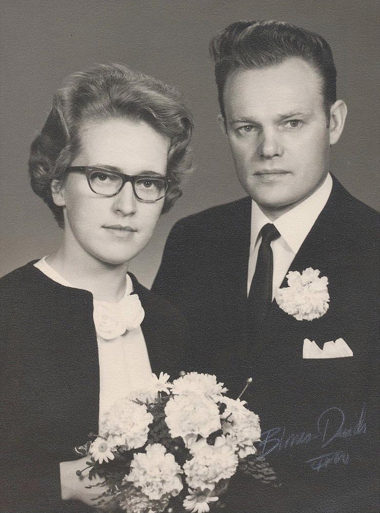 På bilden Nils Berglund och hustrun Else-Maj 1965.