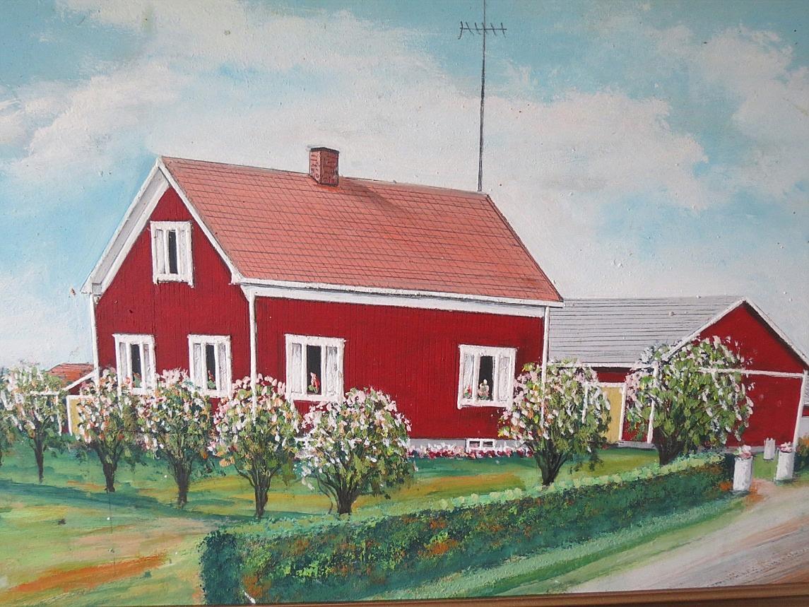 Så här såg Lindblads nya gård ut enligt konstnären Rosblom.
