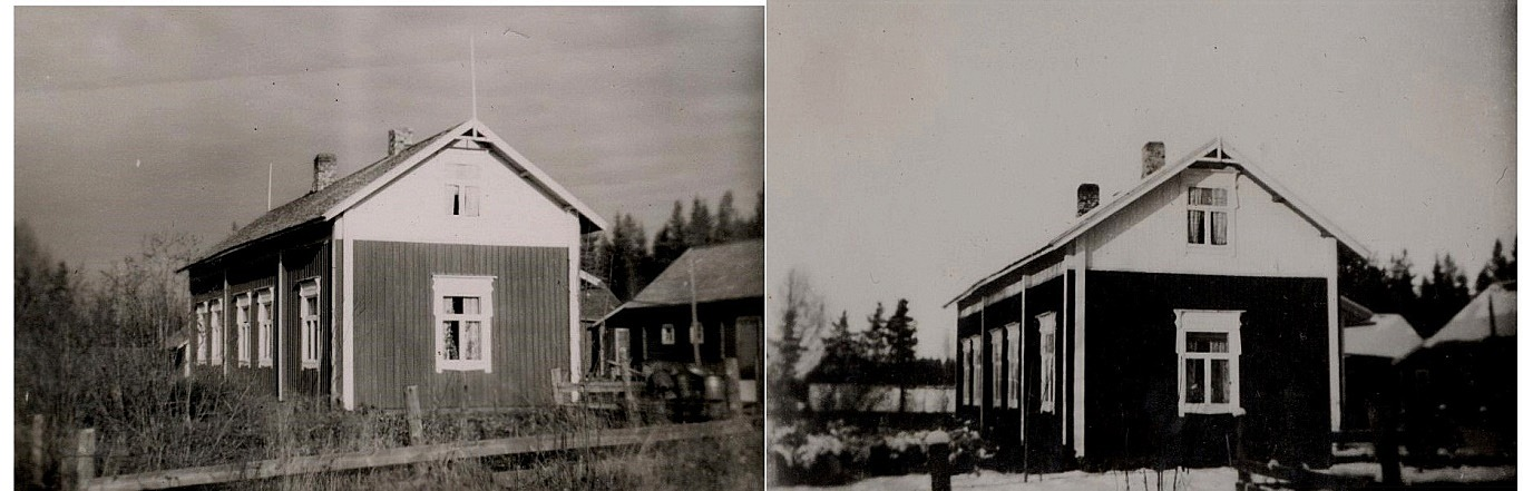 Här två bilder på Johan Viktor Berglunds gård, fotograferad från öster.