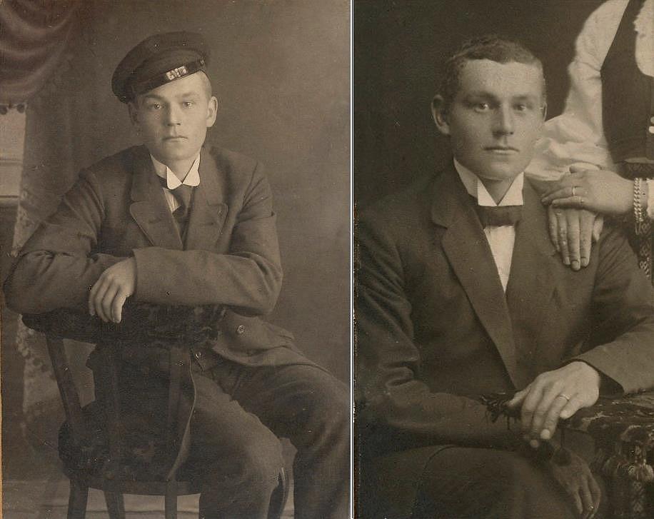 Här bröderna Emil och Erik Anders Båsk.