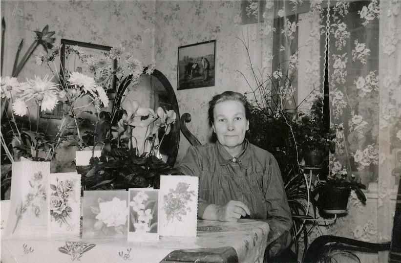 Här Hulda Lindblad på en bemärkelsedag.