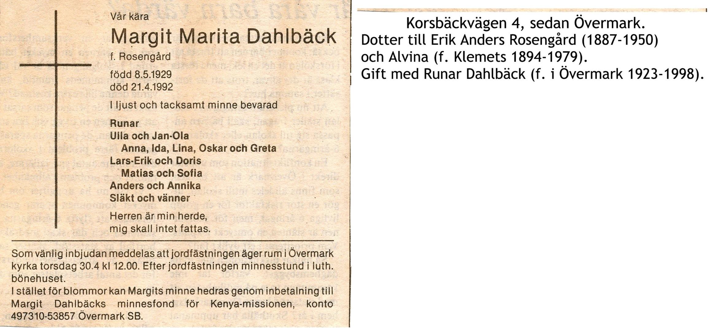 Dahlbäck Margit