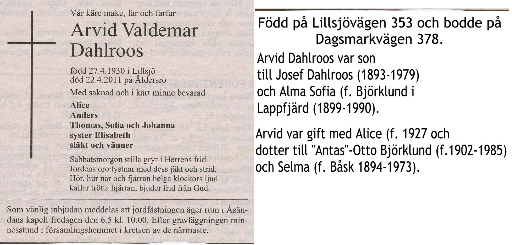 Dahlroos Arvid