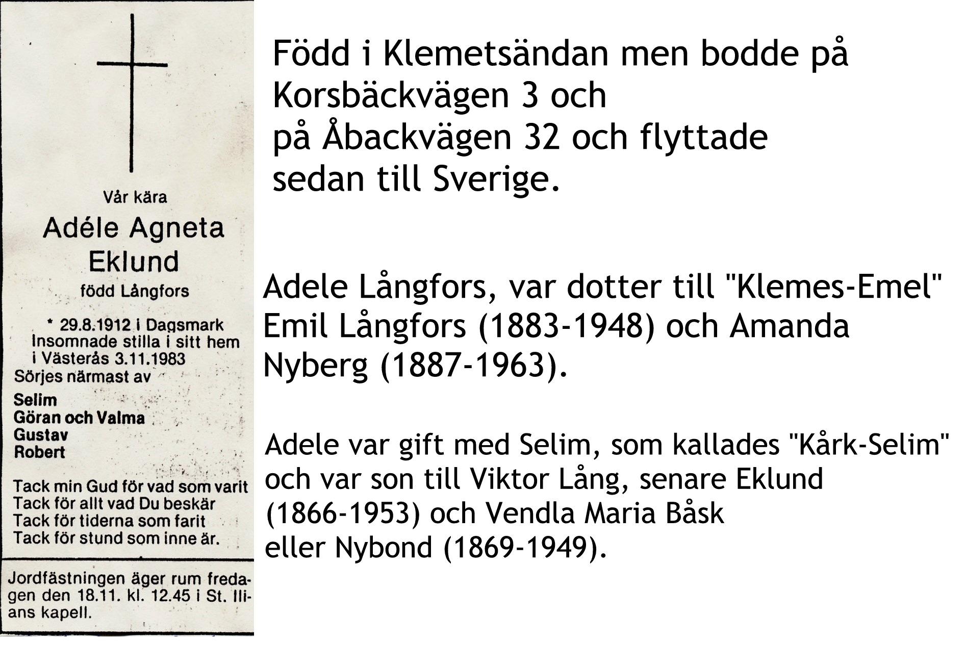 Eklund Adele