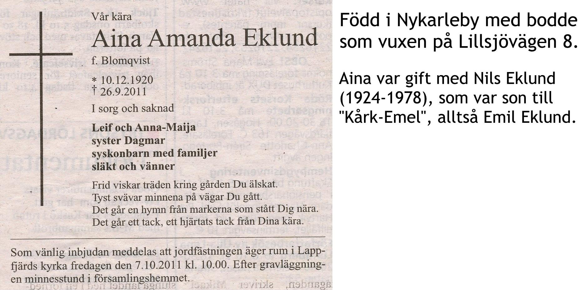 Eklund Aina