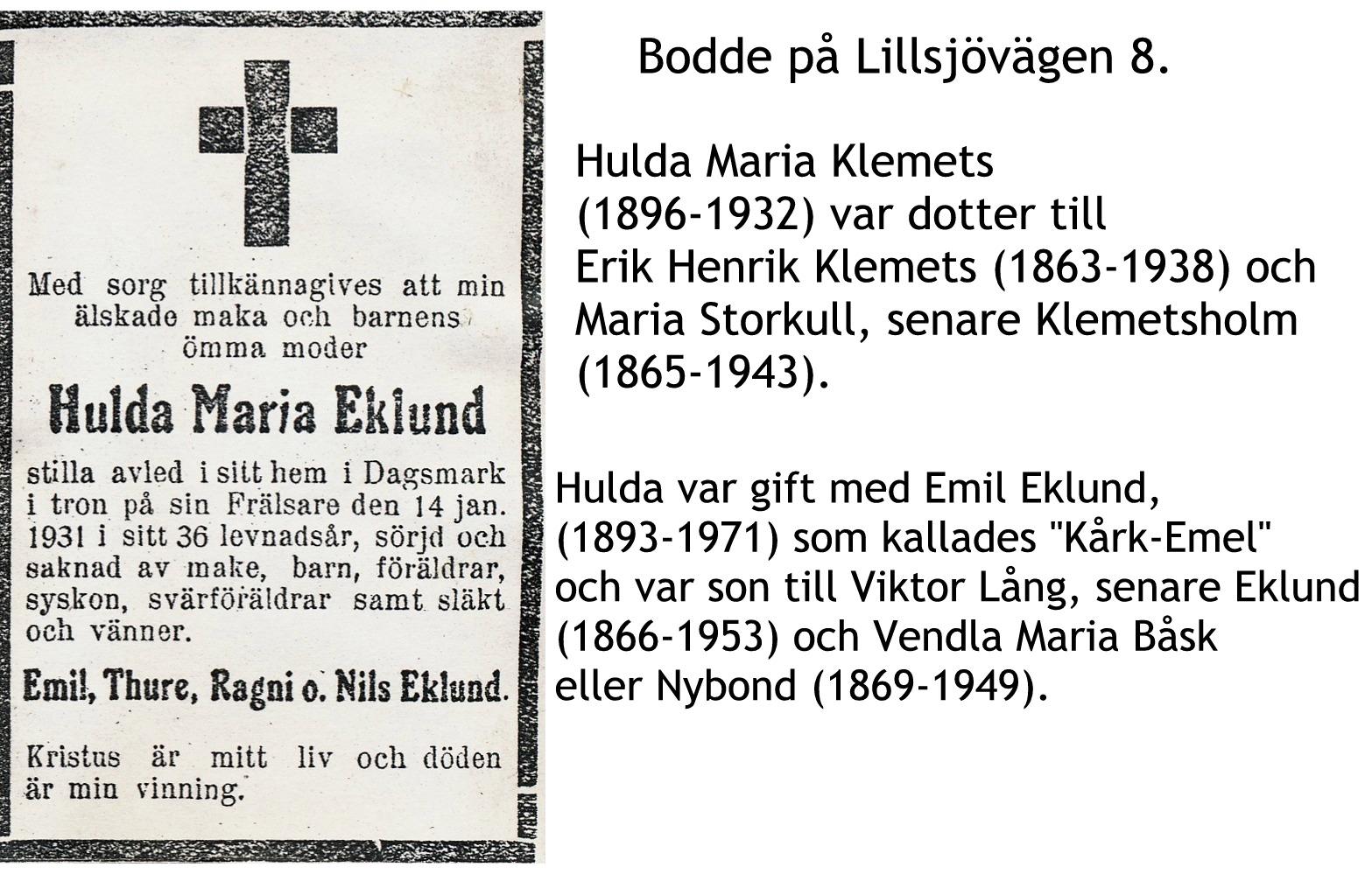Eklund Hulda Maria