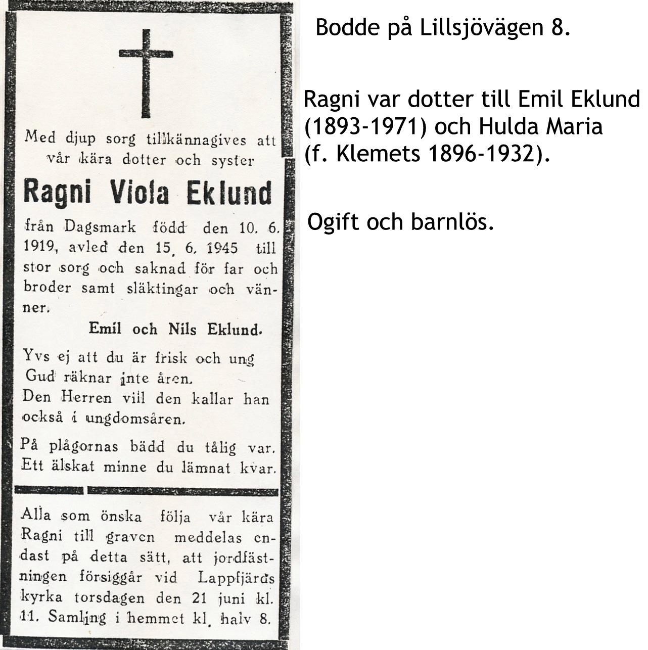 Eklund Ragni Viola