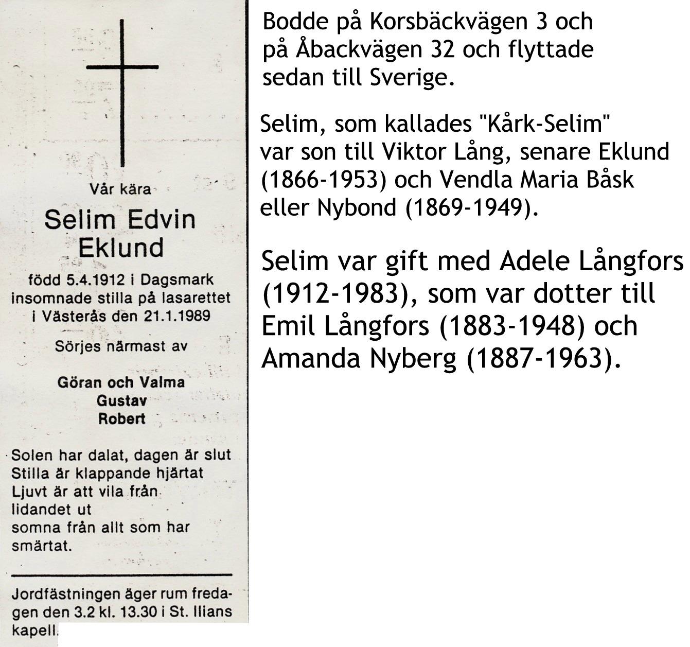 Eklund Selim