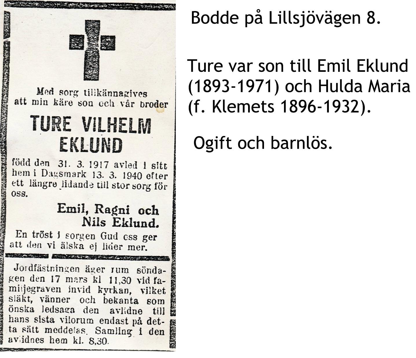Eklund Ture