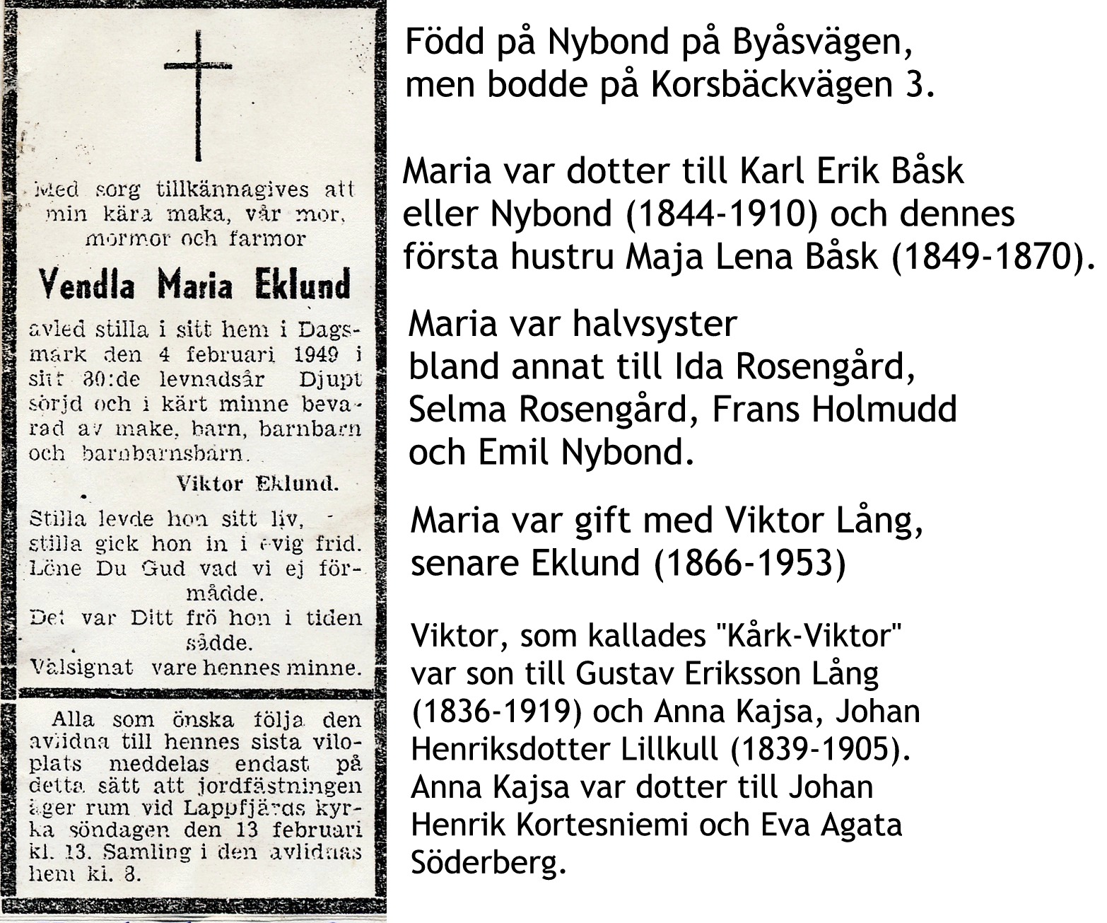 Eklund Vendla Maria