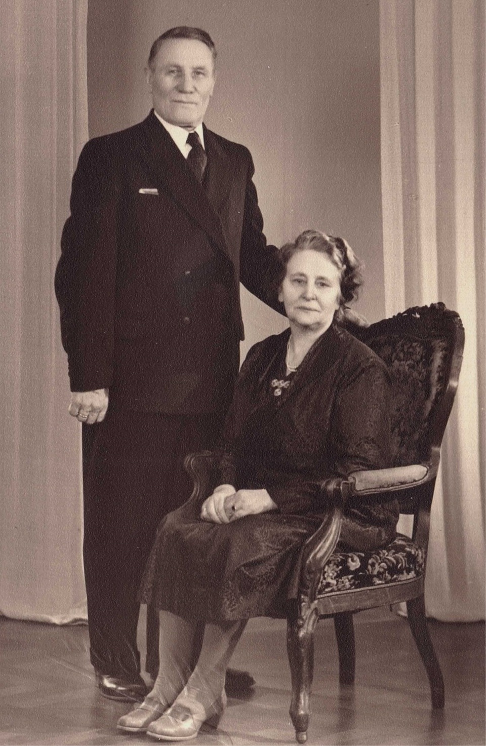 Här Emil och Ida Båsk, någon gång på 1950-talet.