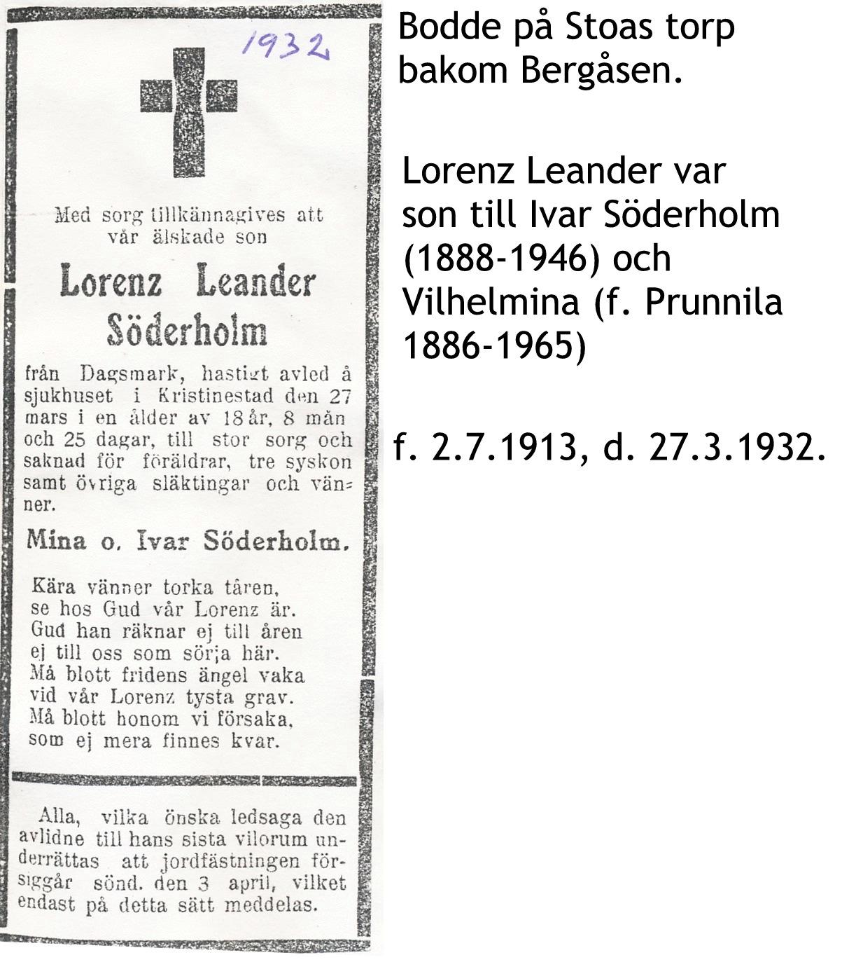 Söderholm Lorenz Leander
