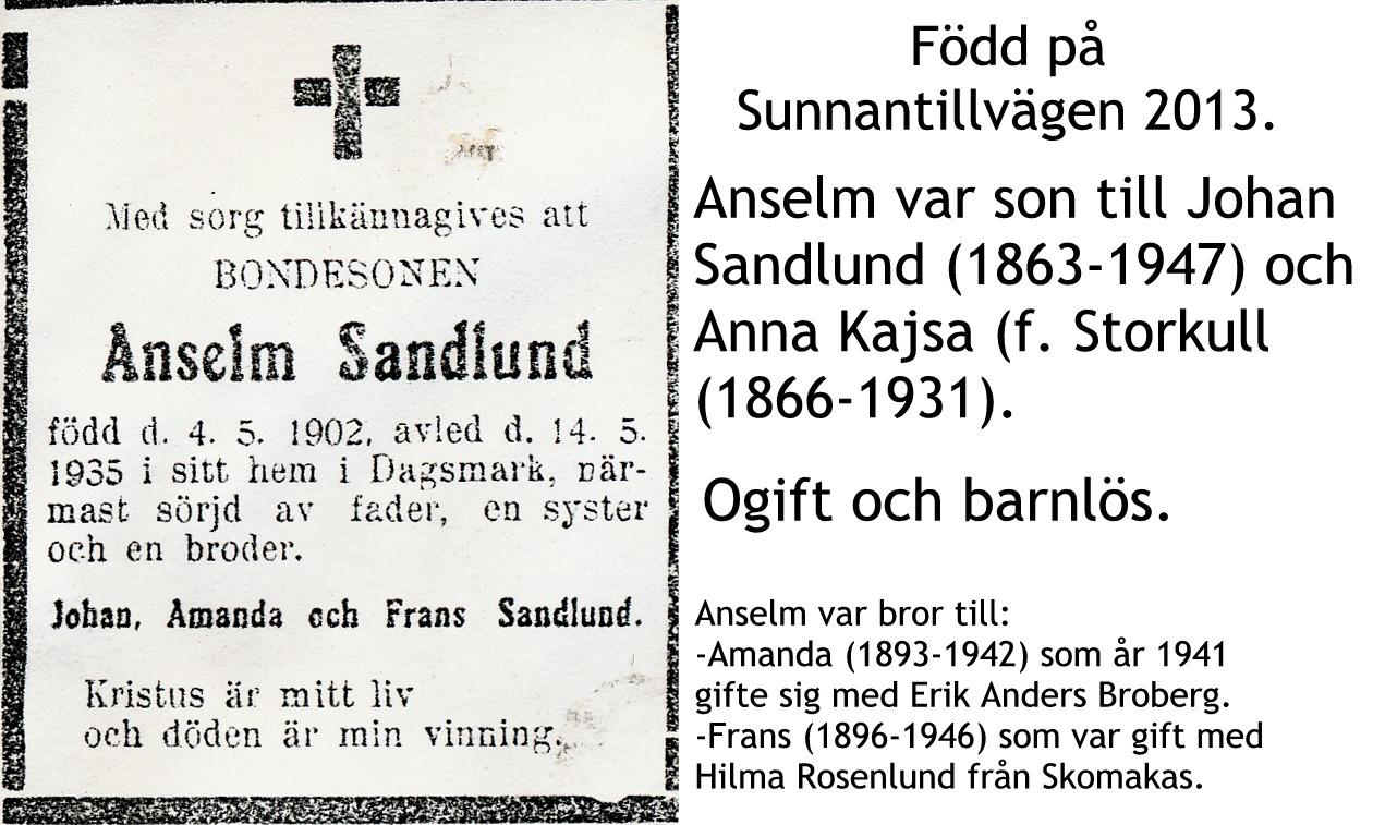 Sandlund Anselm