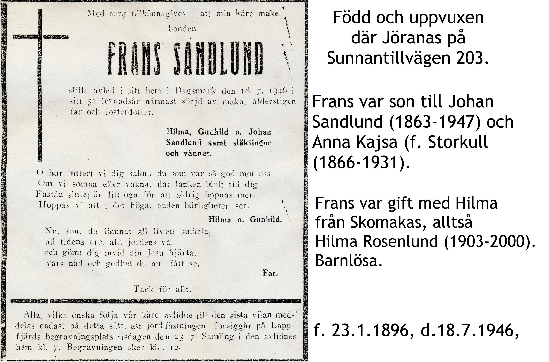 Sandlund Frans