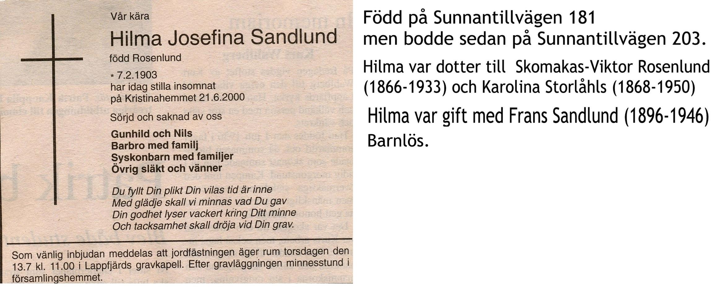 Sandlund Hilma