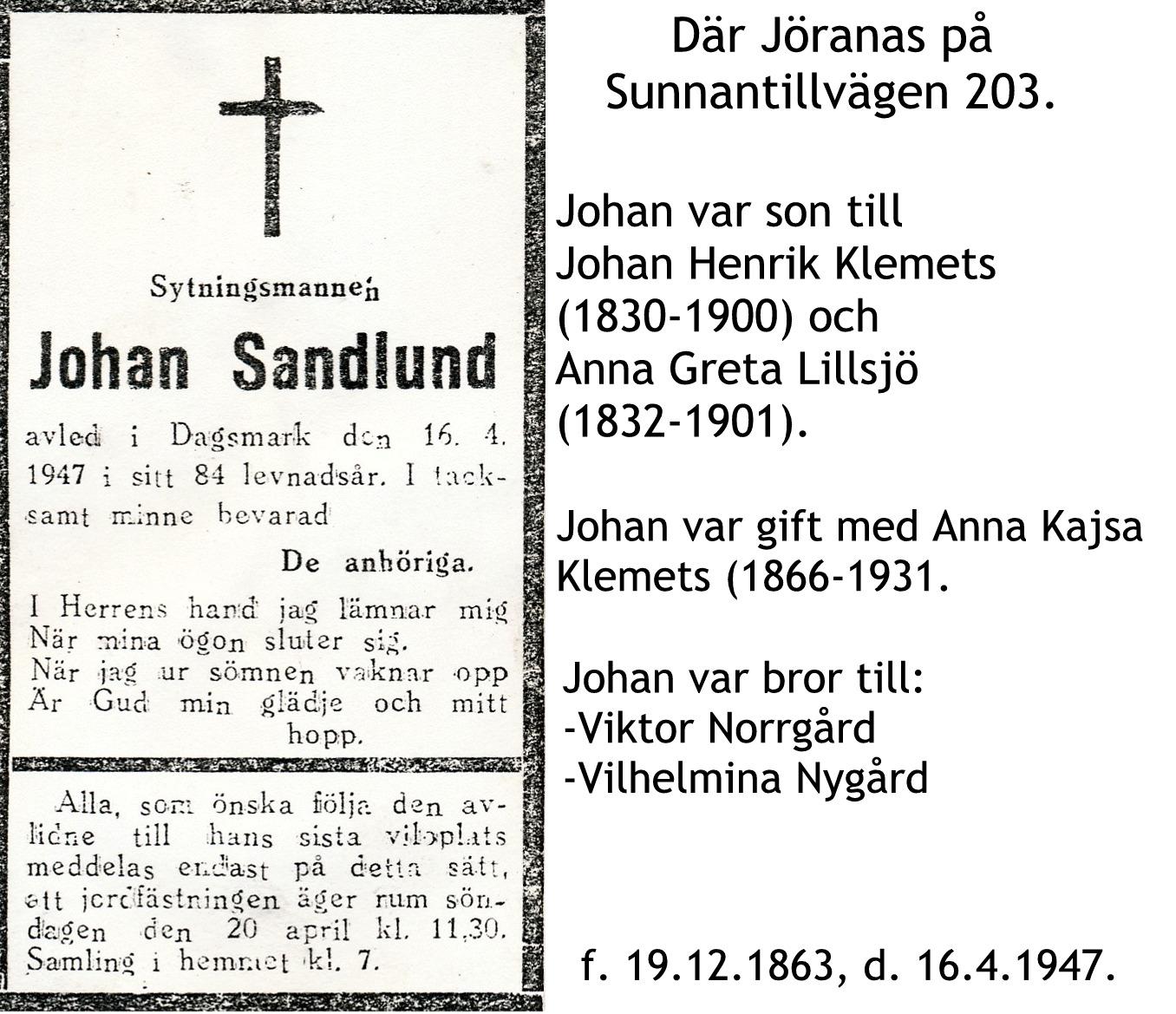 Sandlund Johan