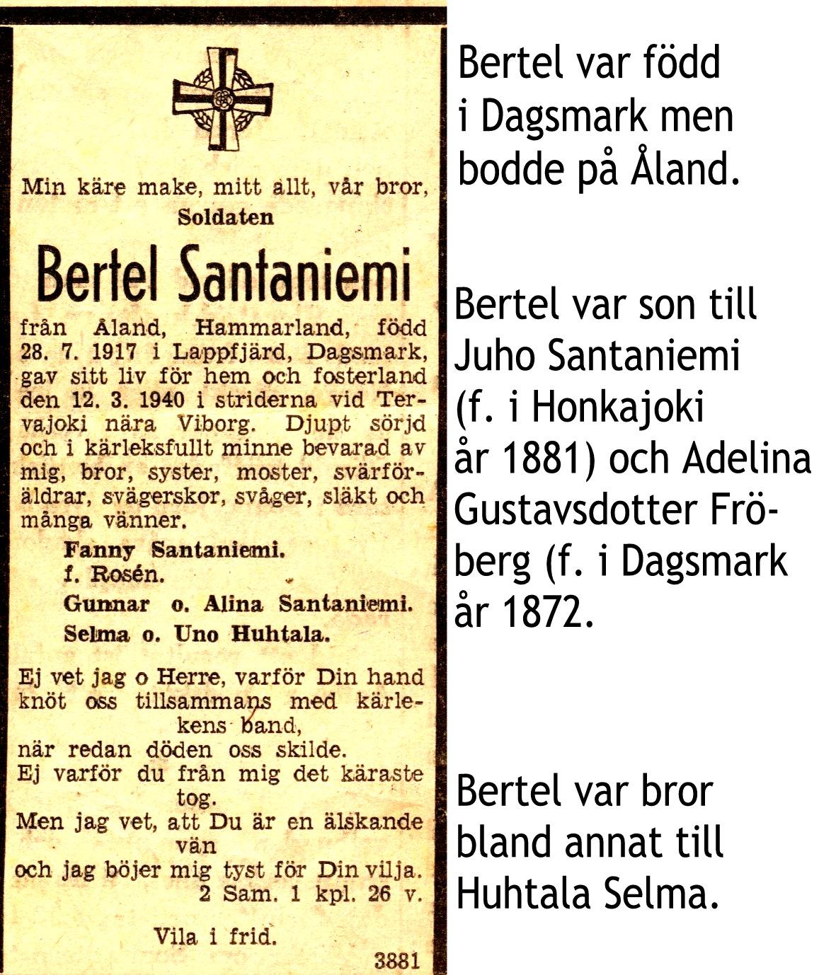 Santaniemi Bertel