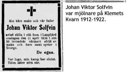Solfvin Johan Viktor