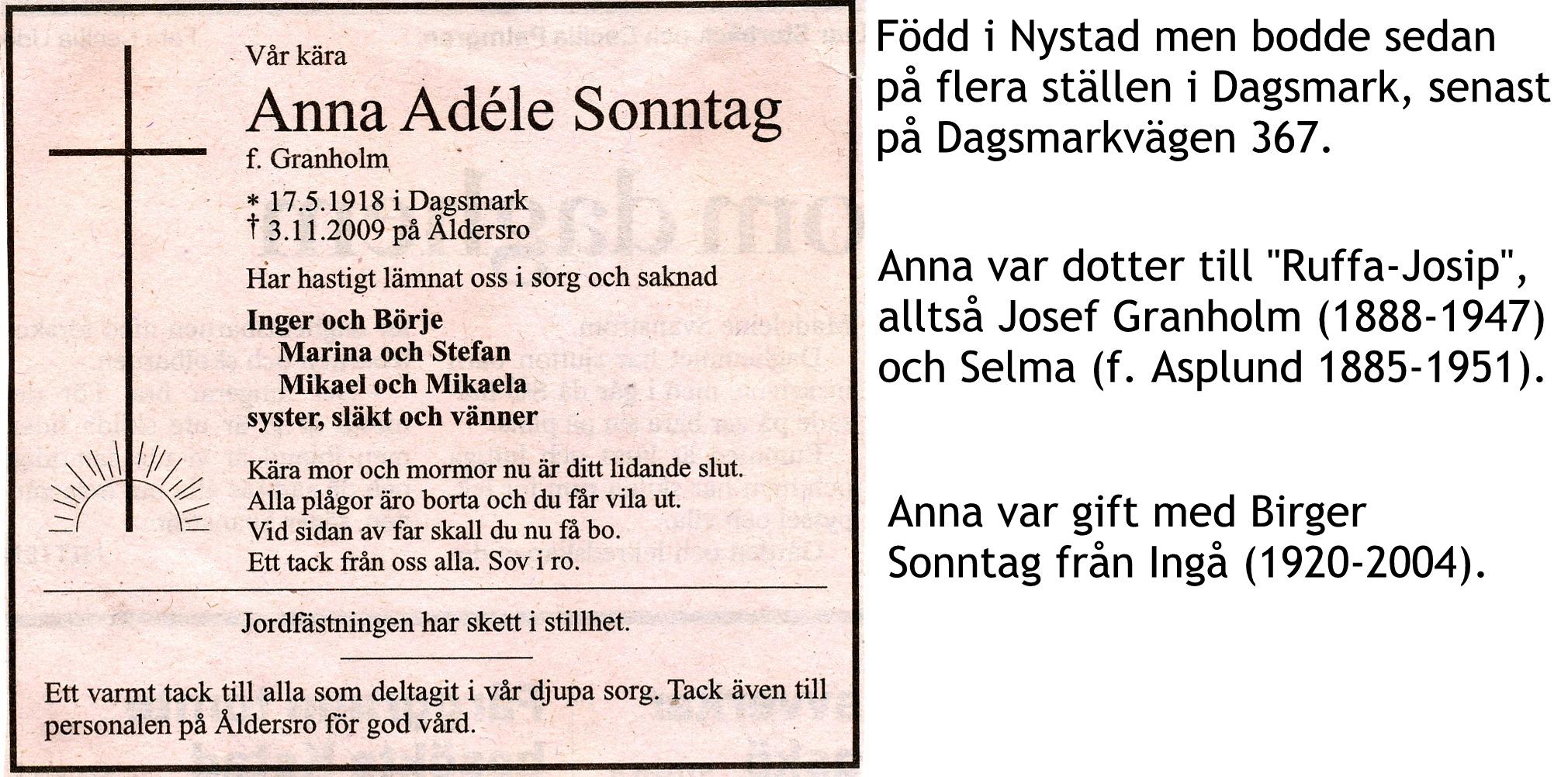 Sonntag Anna
