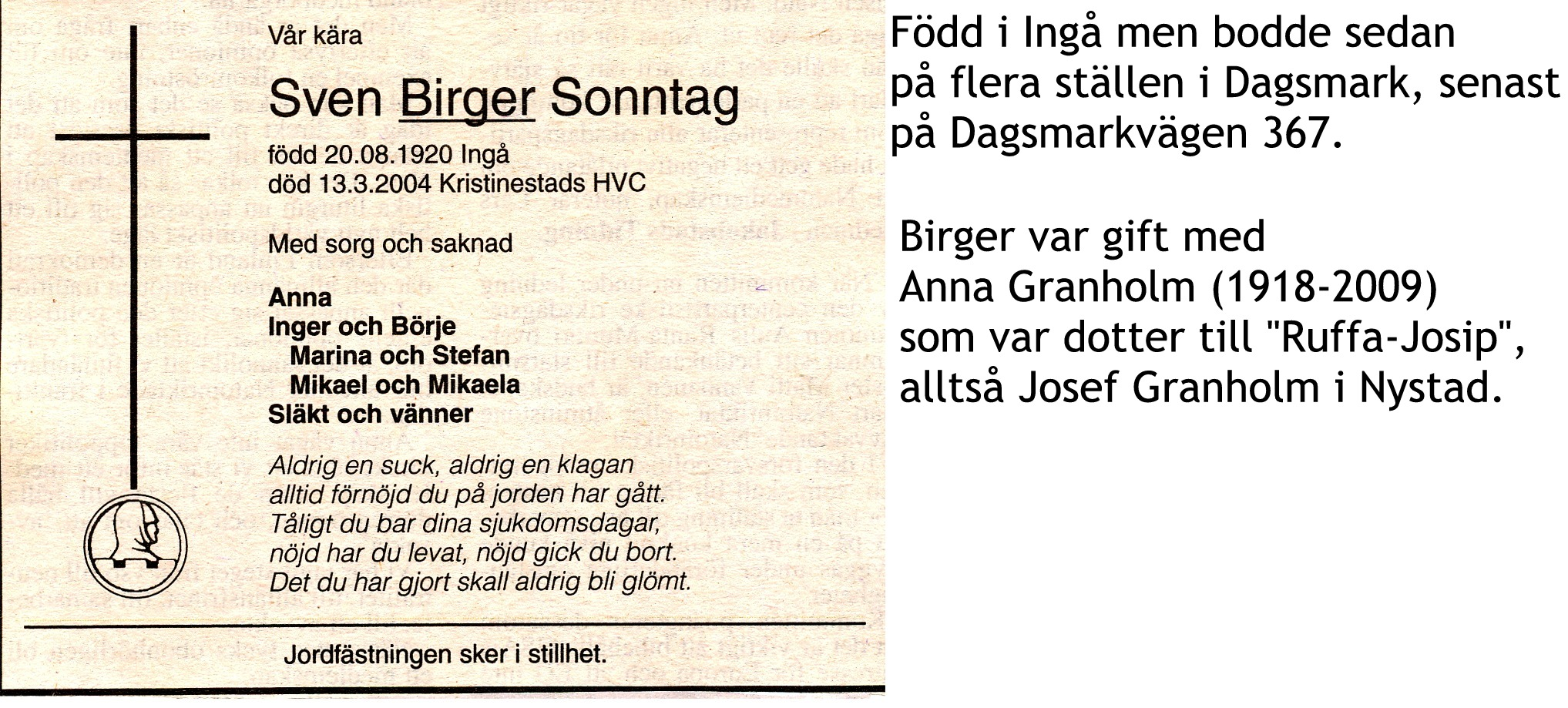 Sonntag Birger