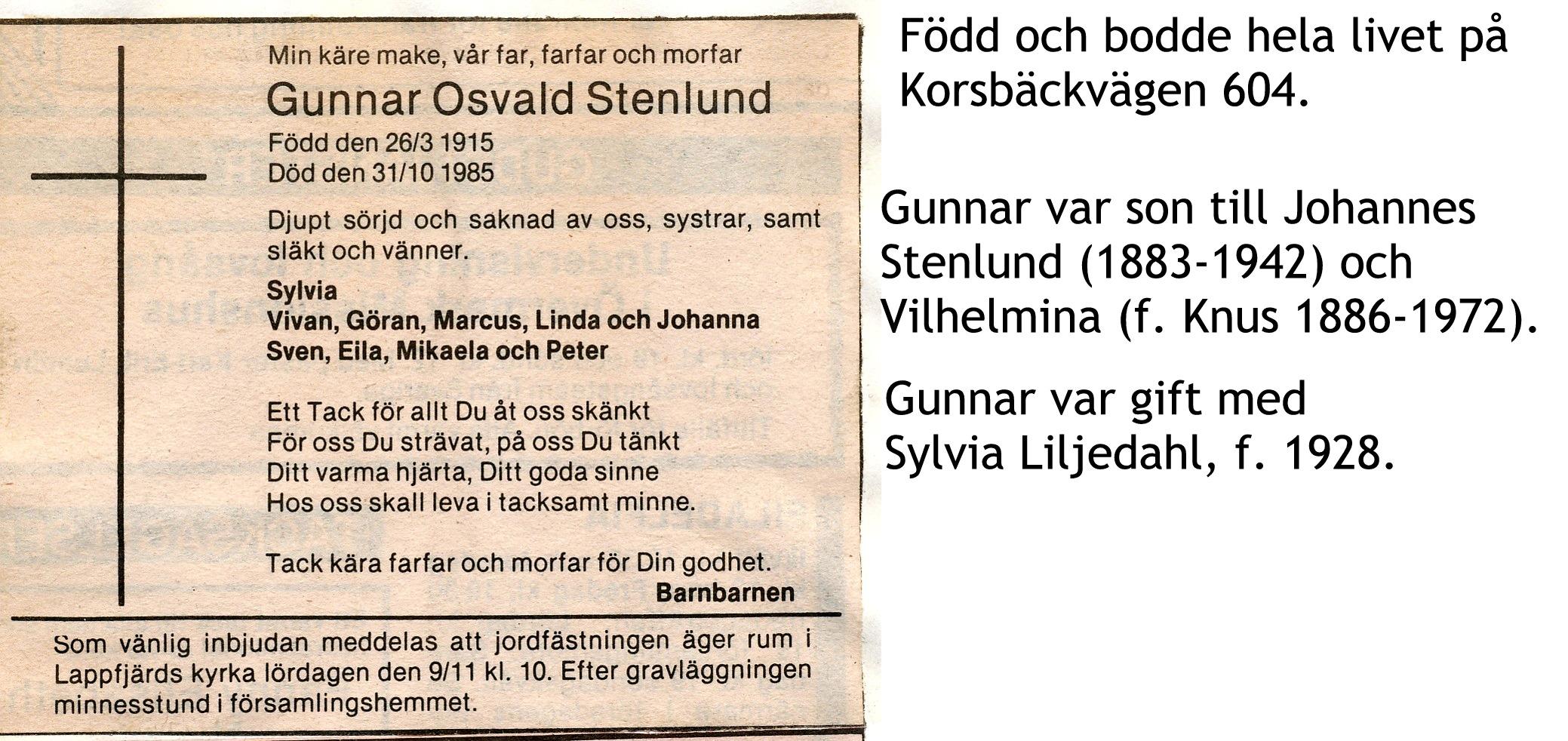 Stenlund Gunnar
