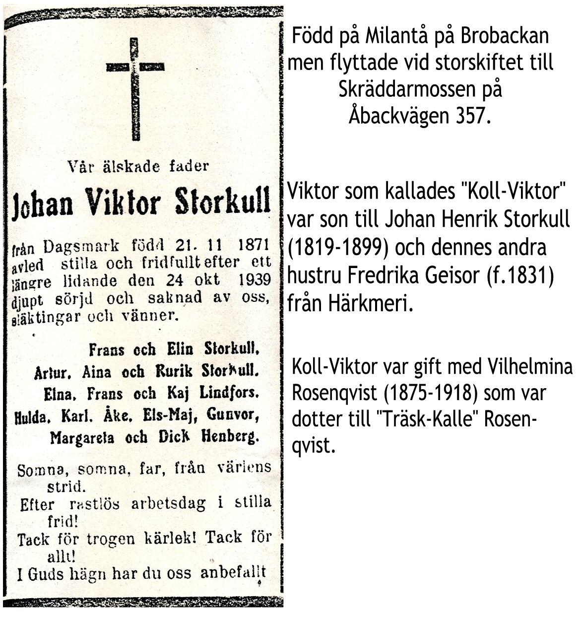 Storkull Johan Viktor