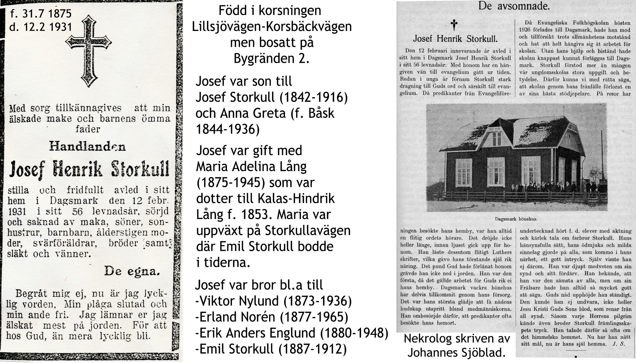 Storkull Josef Henrik handlande
