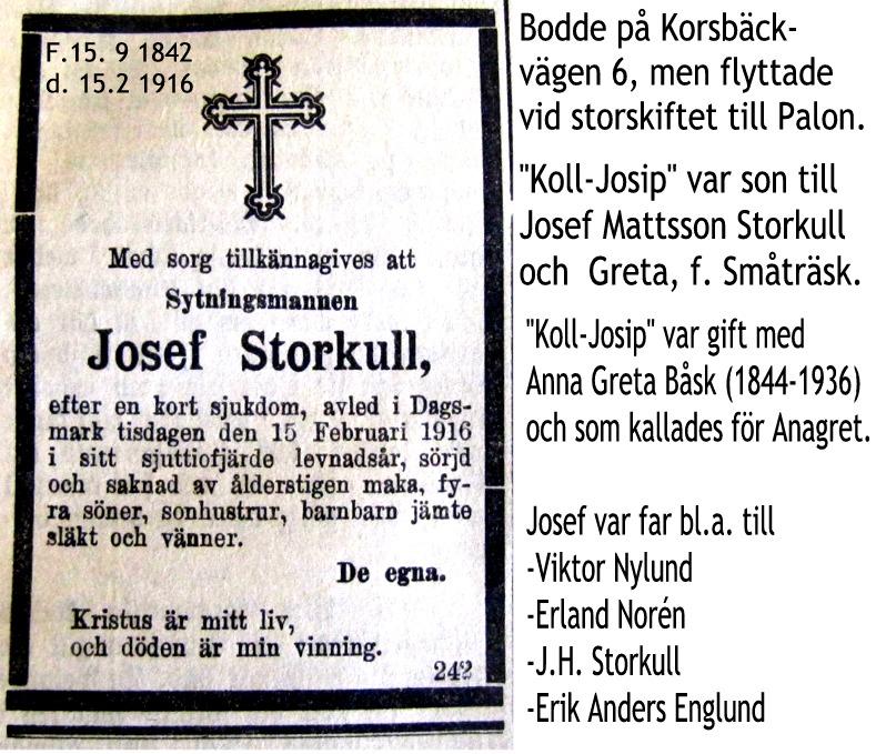 Storkull Josefs annons