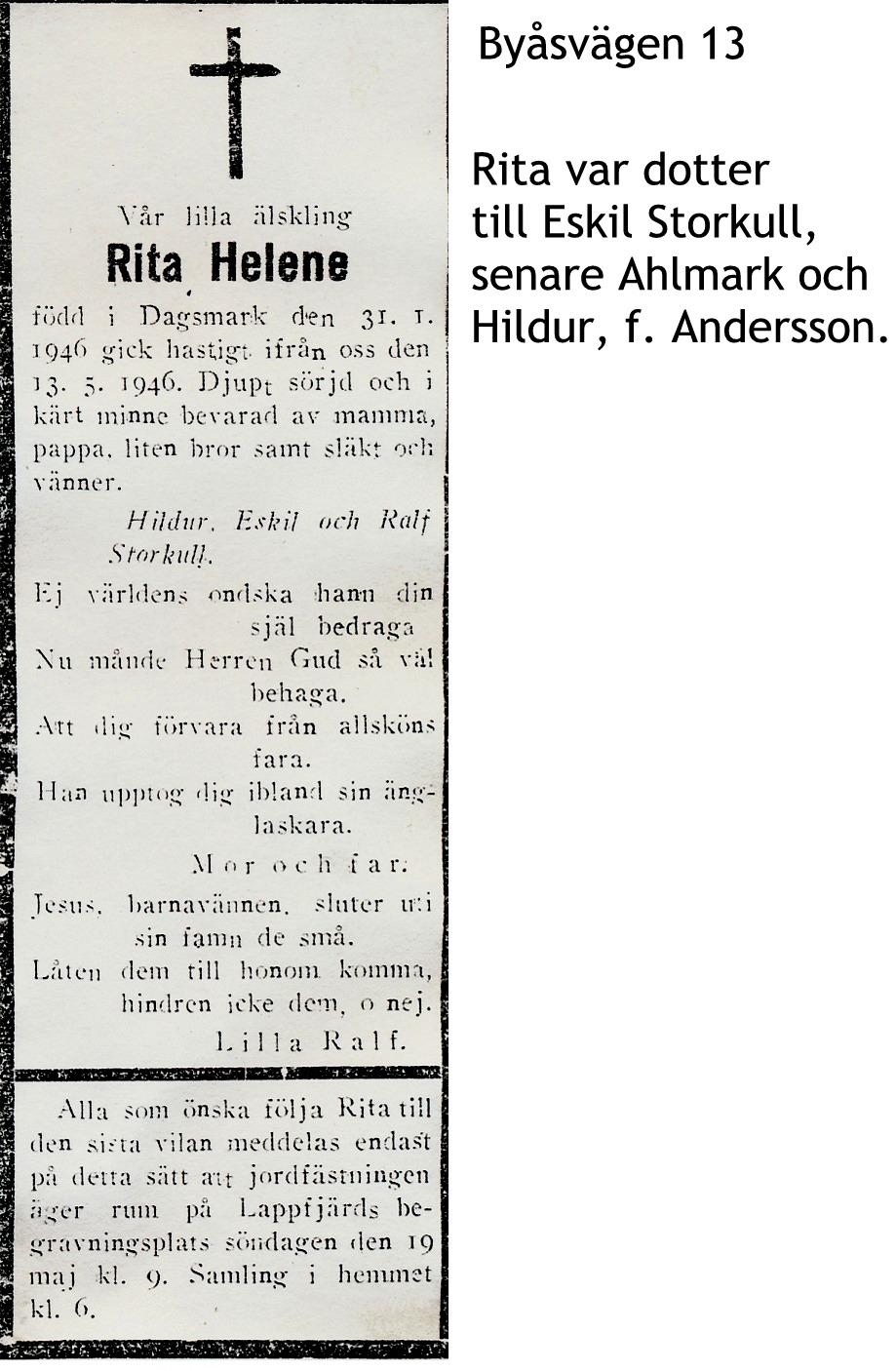 Storkull Rita Helene