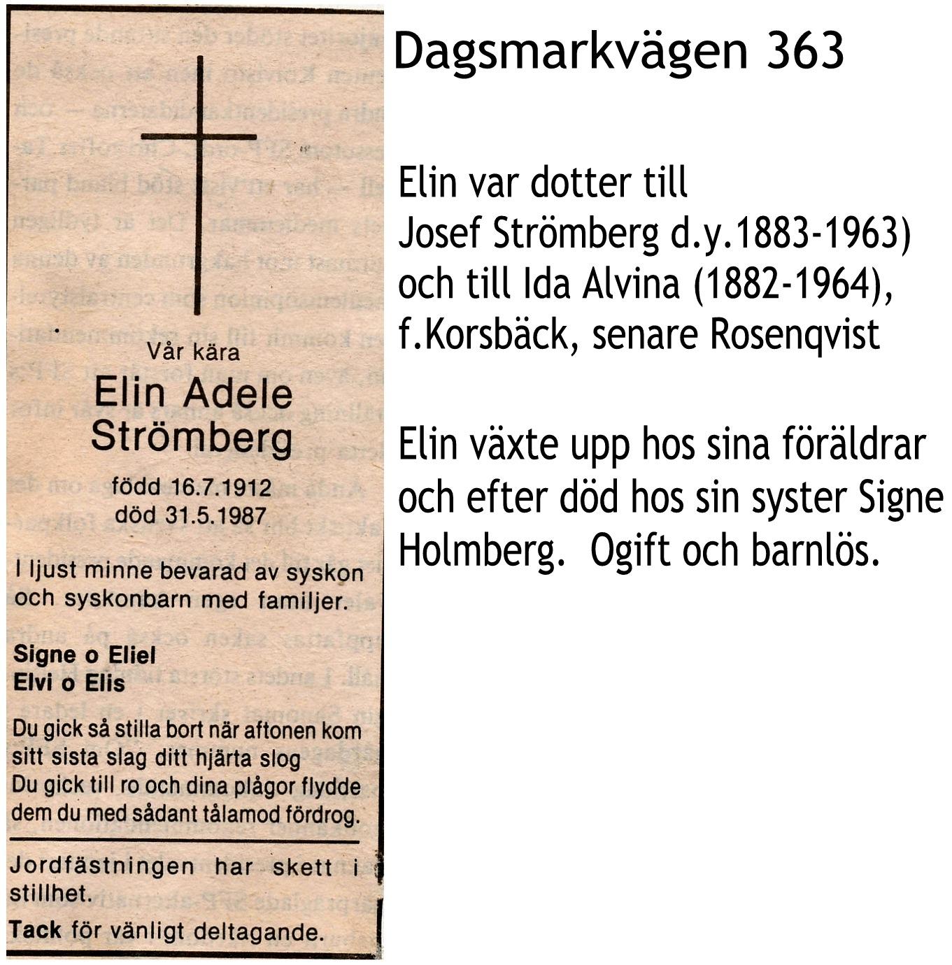 Strömberg Elin Adele