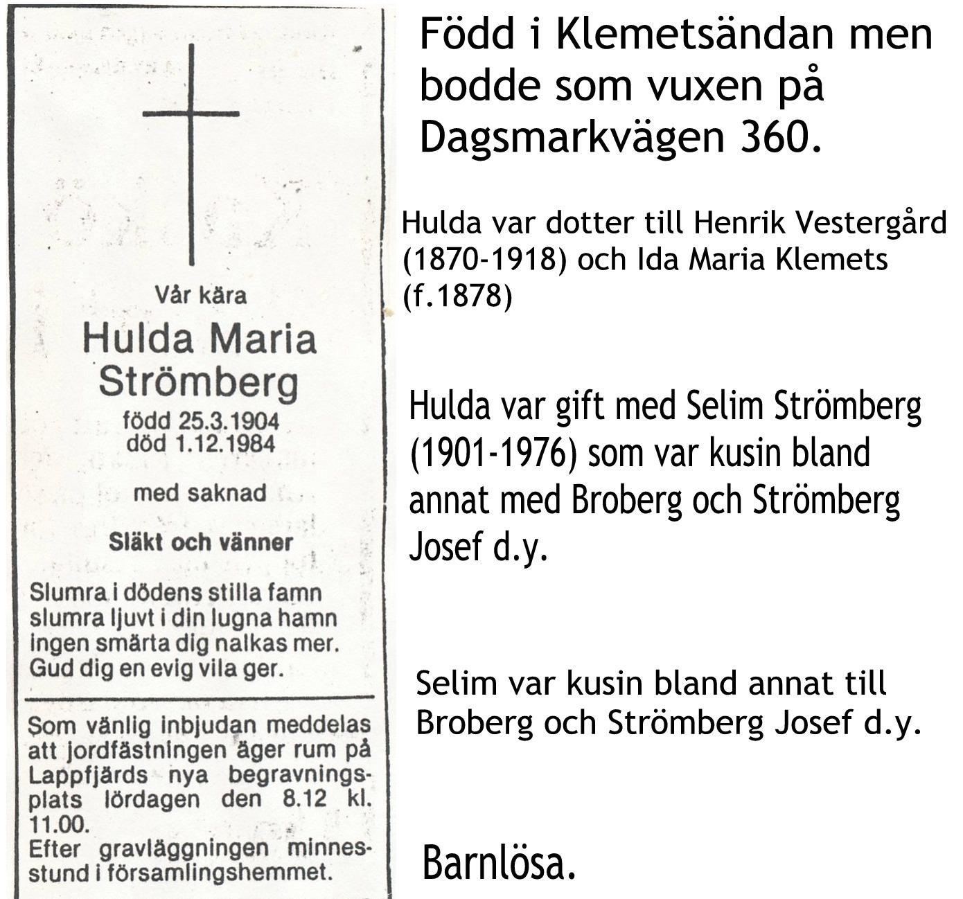 Strömberg Hulda Maria