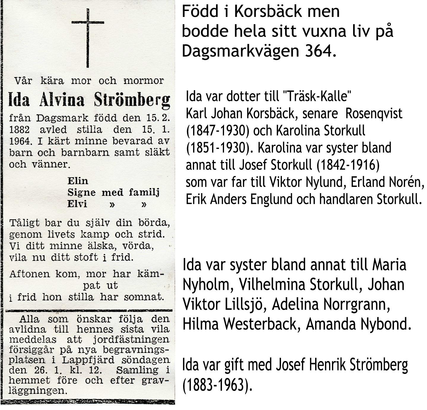 Strömberg Ida Alvina