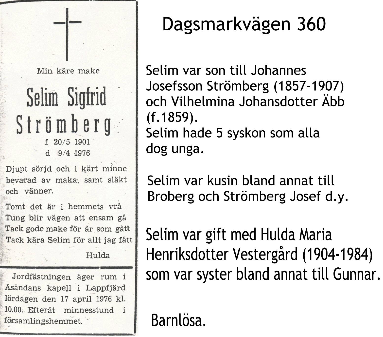 Strömberg Selim Sigfrid