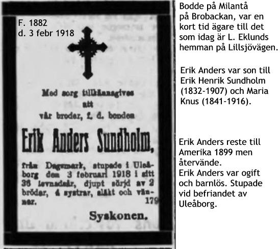 Sundholm Erik Anders