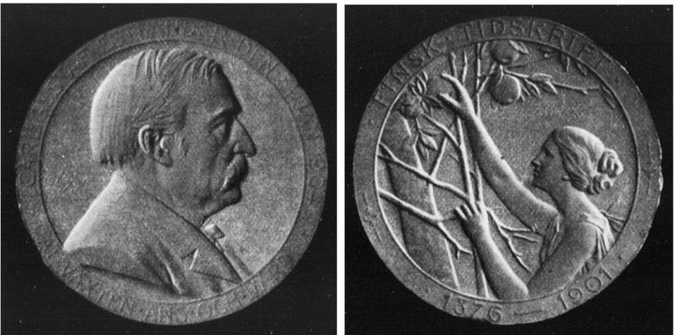 Så här skulle minnesmyntet av Carl Gustaf Estlander se ut.