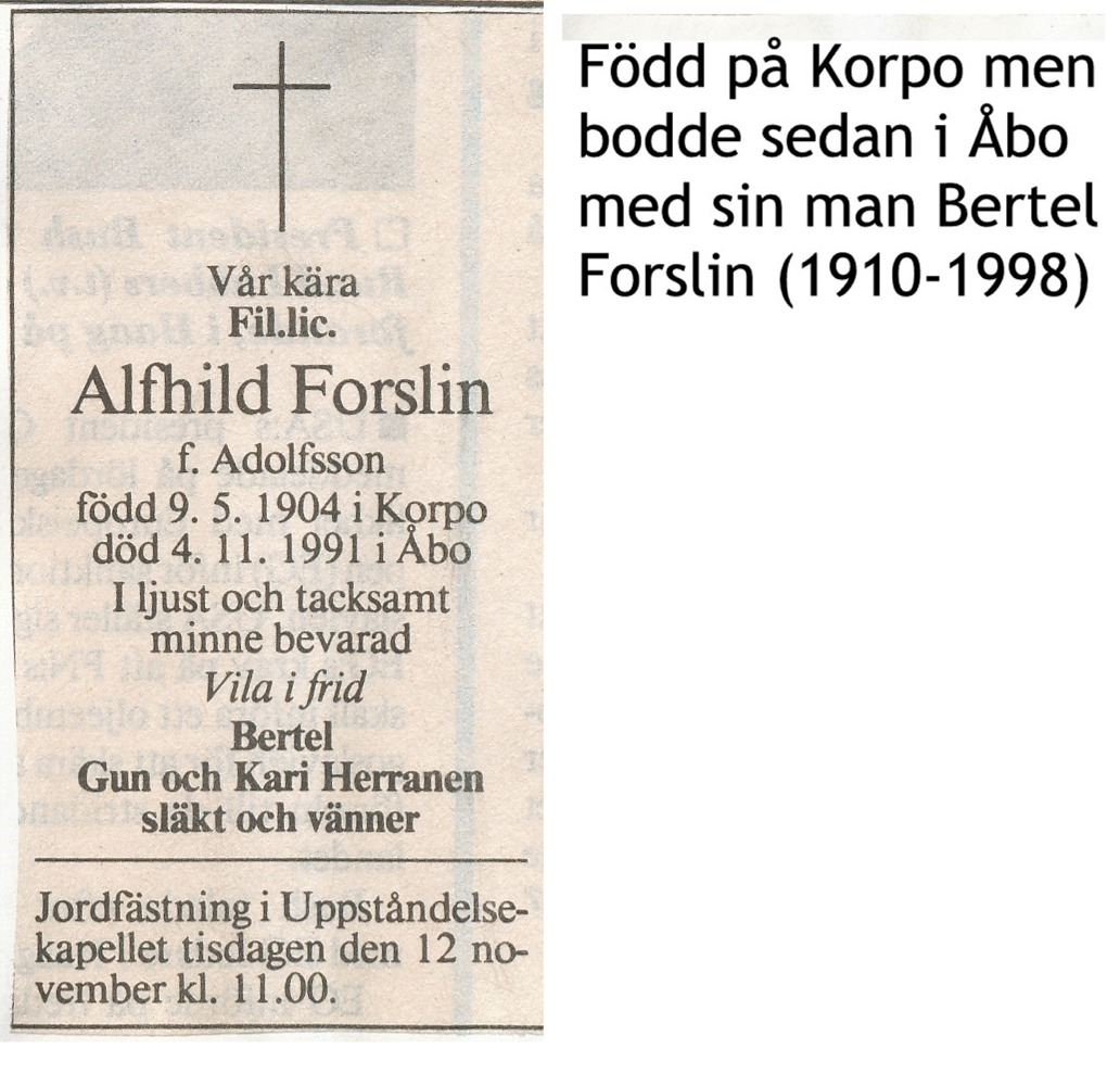 Forslin Alfhild