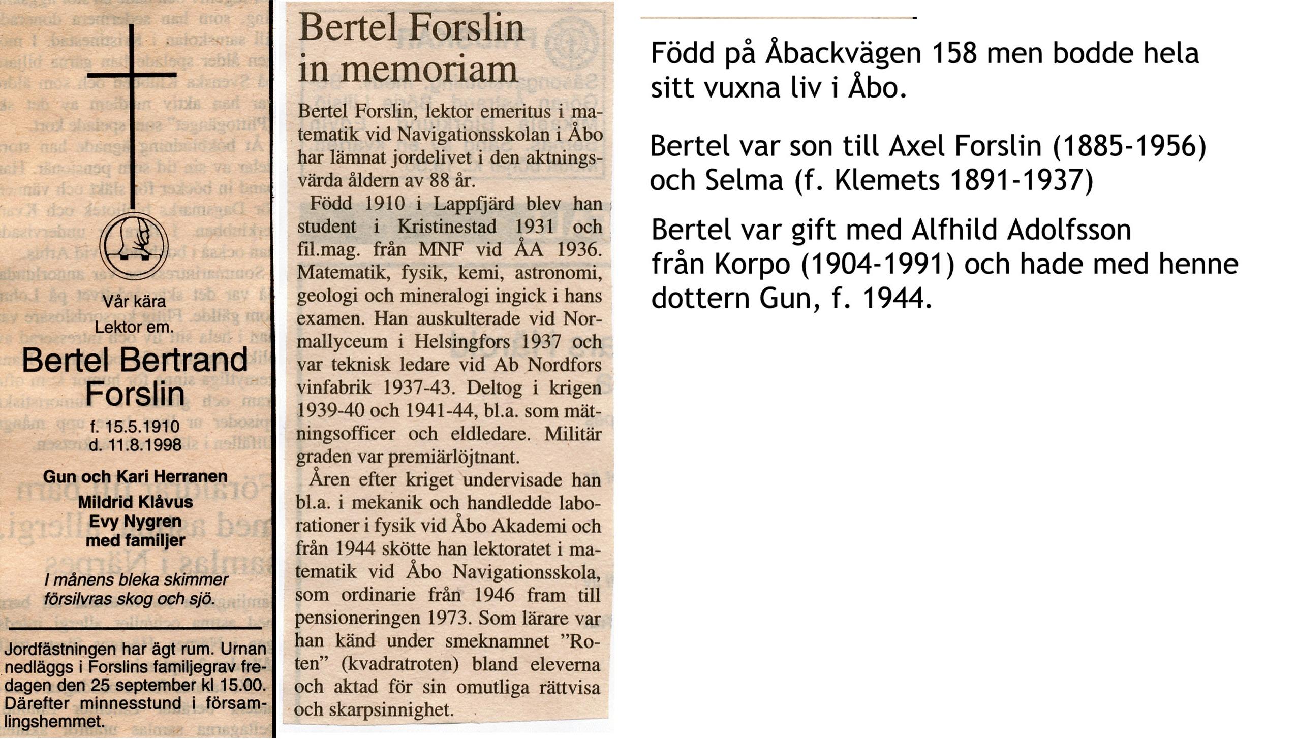 Forslin Bertel