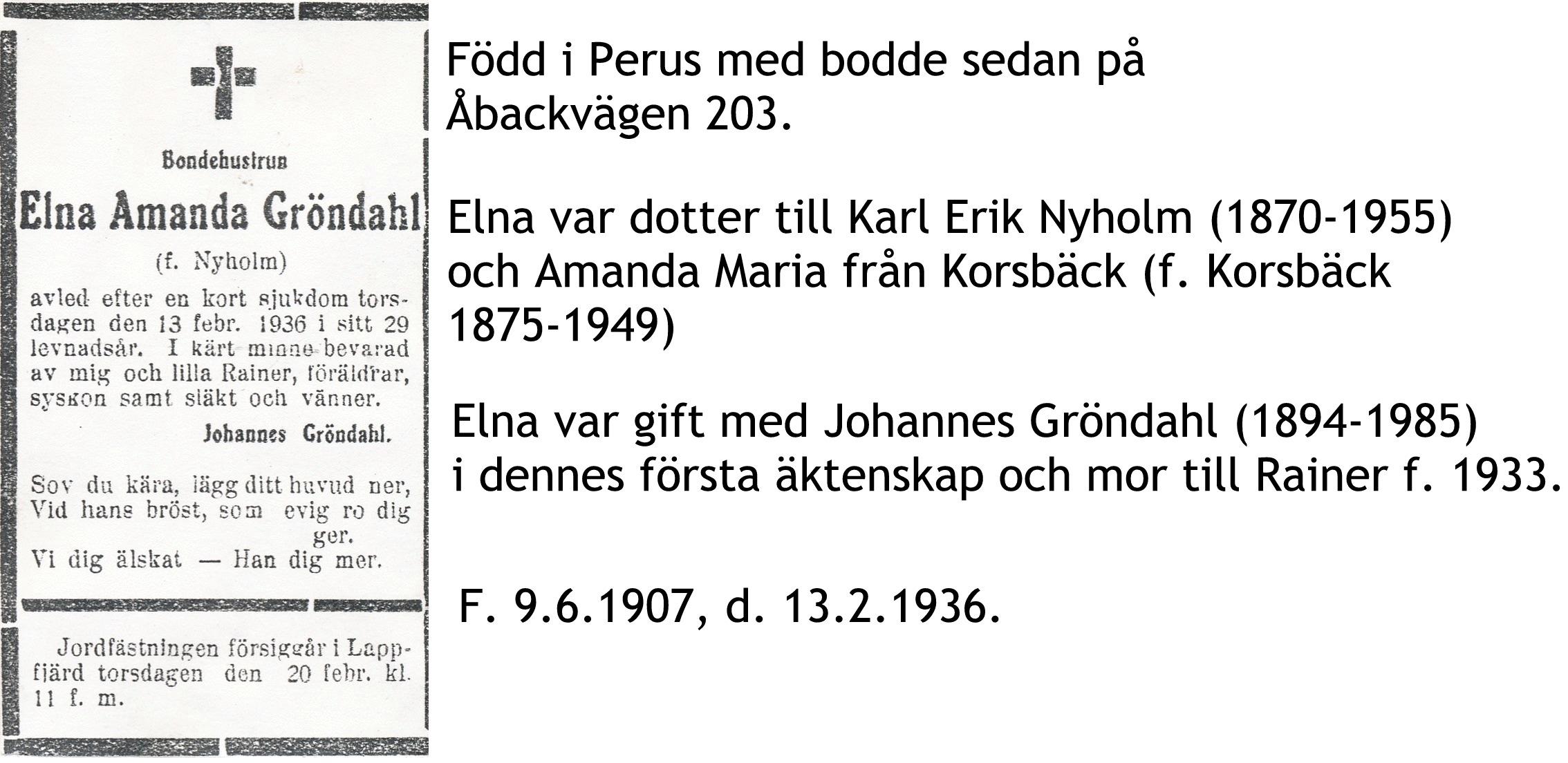Gröndahl Elna Amanda