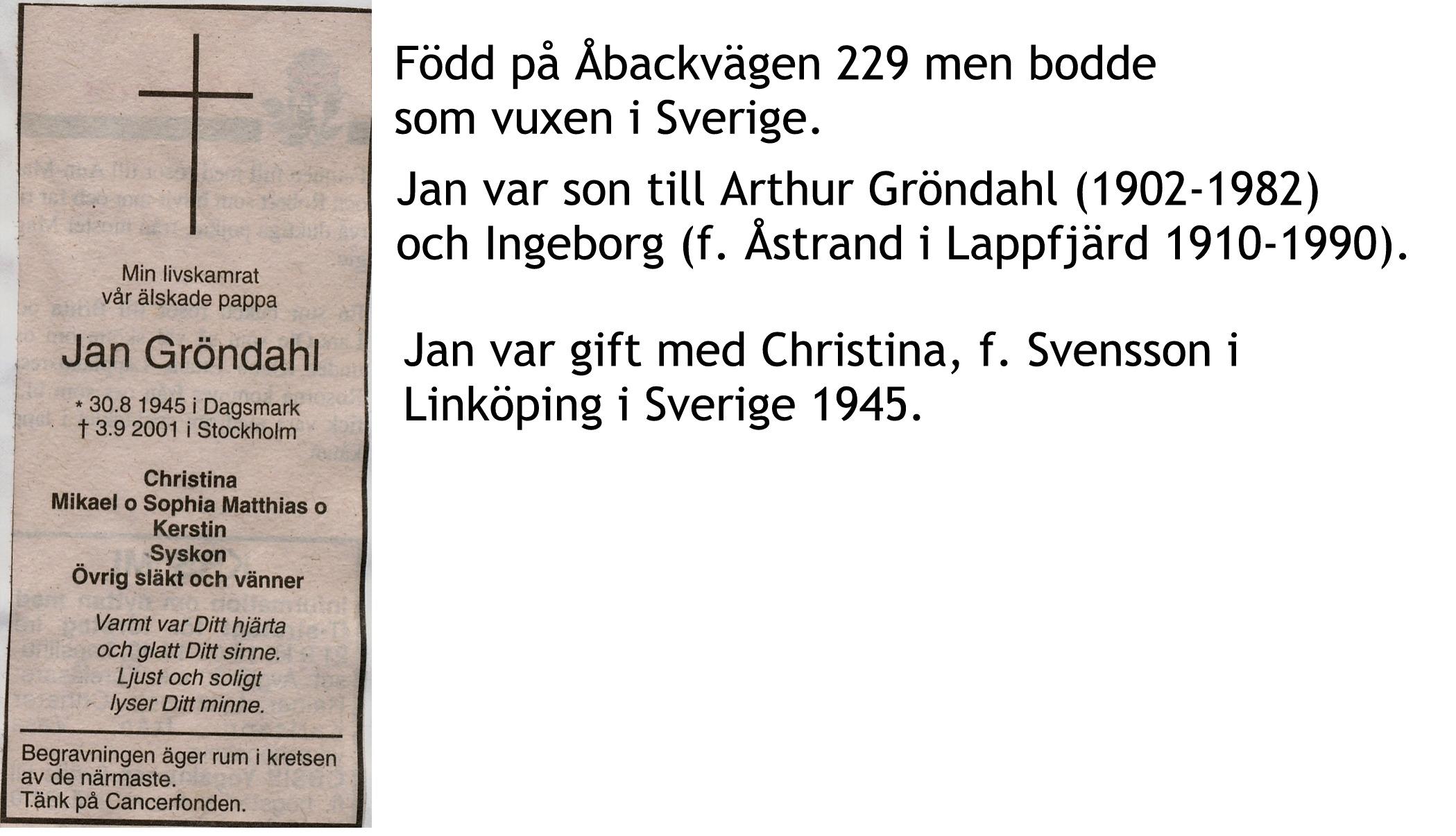 Gröndahl Jan