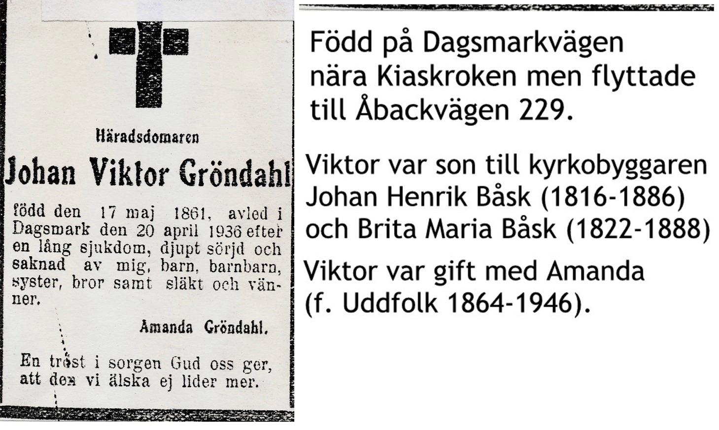 Gröndahl Johan Viktor häradsdomare