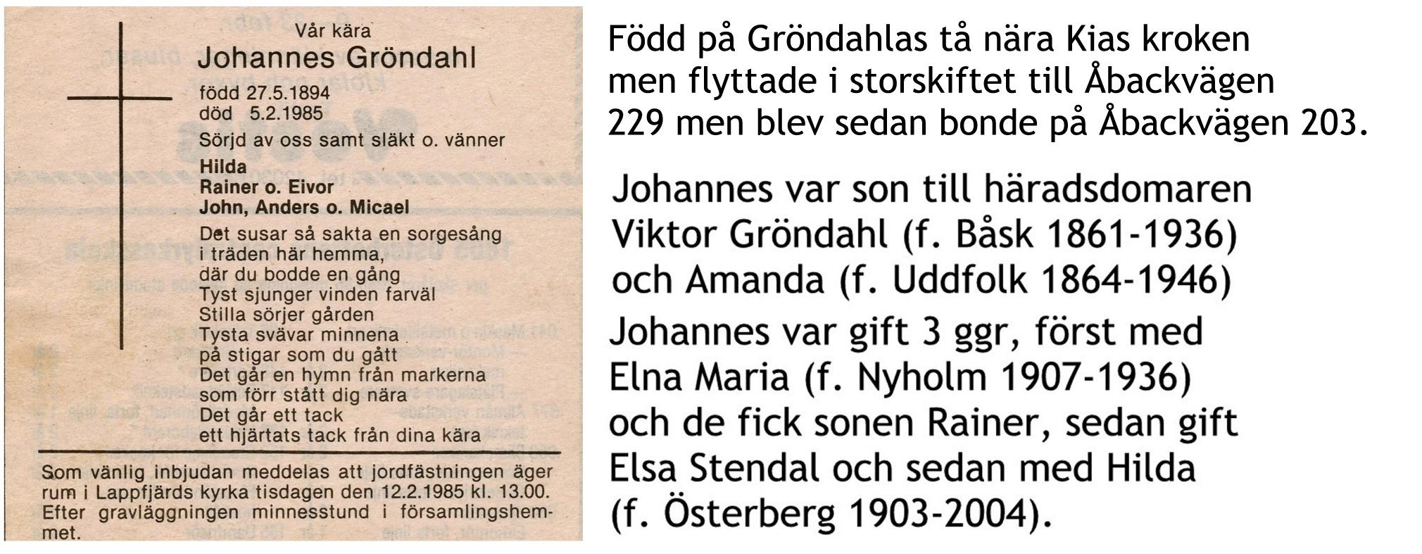 Gröndahl Johannes