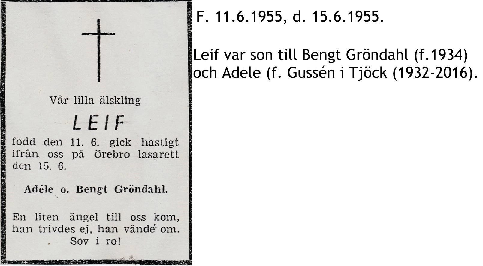 Gröndahl Leif