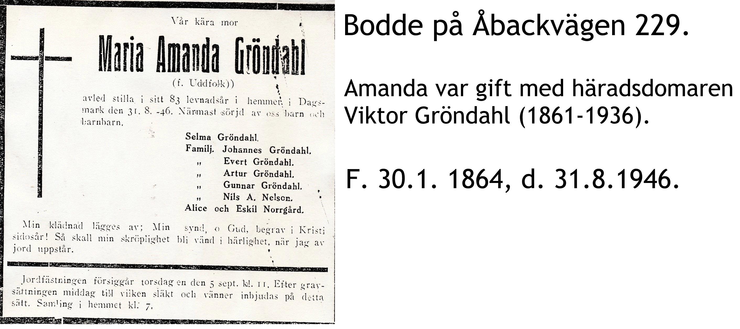 Gröndahl Maria Amanda