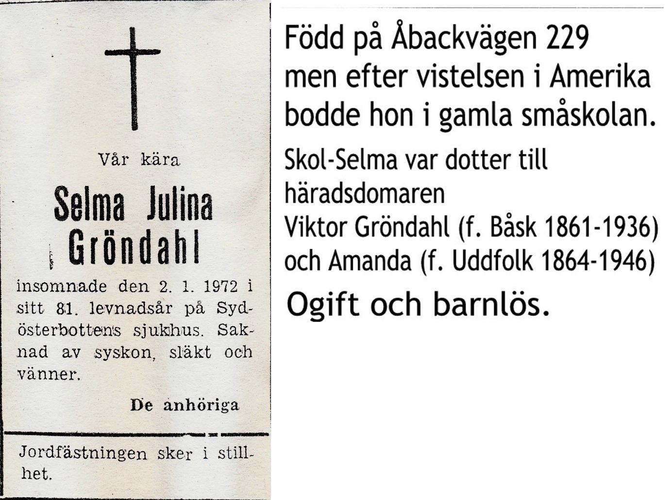 Gröndahl Selma Julina
