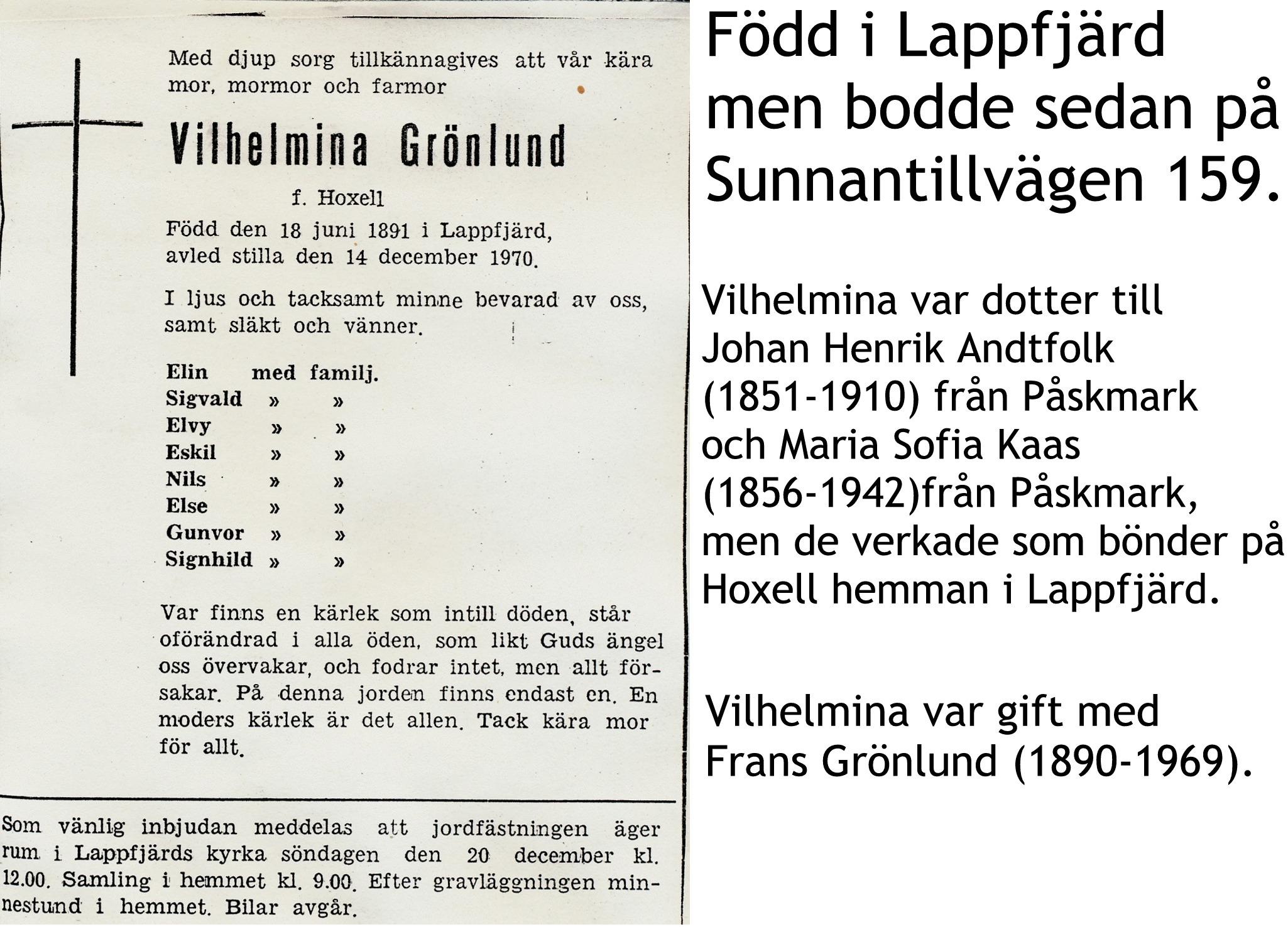 Grönlund Vilhelmina