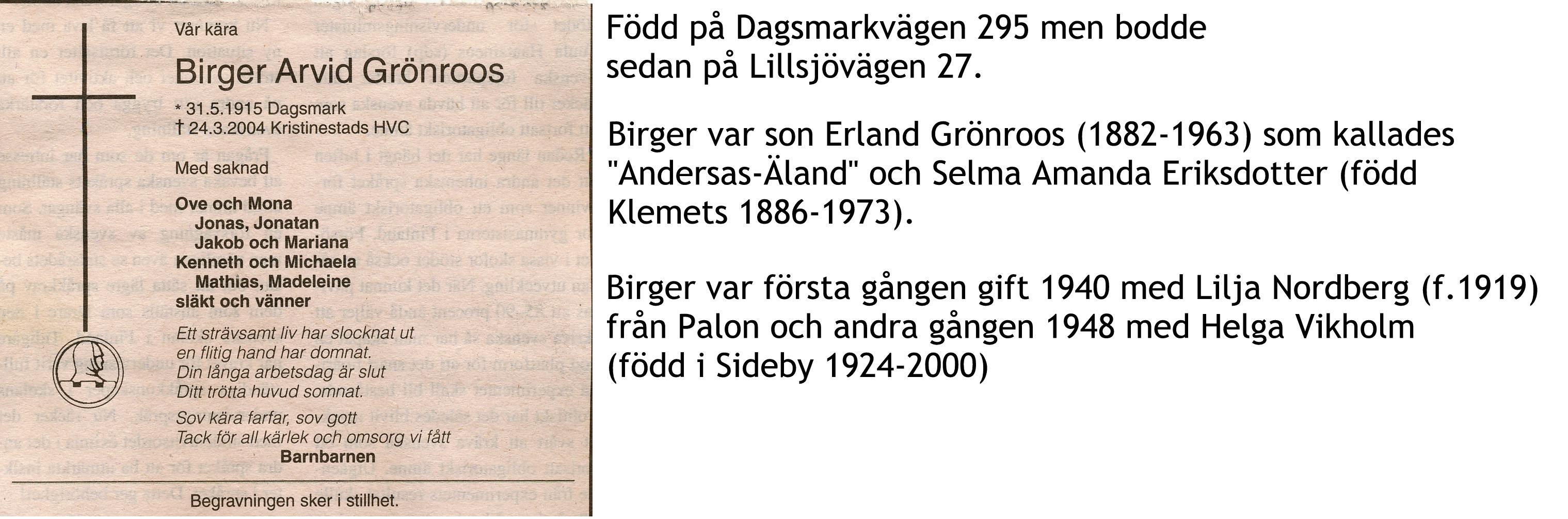 Grönroos Birger