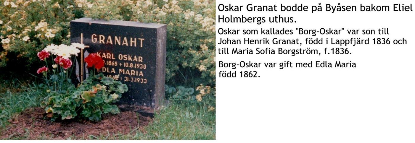 Granat Oskar Borg-oskar