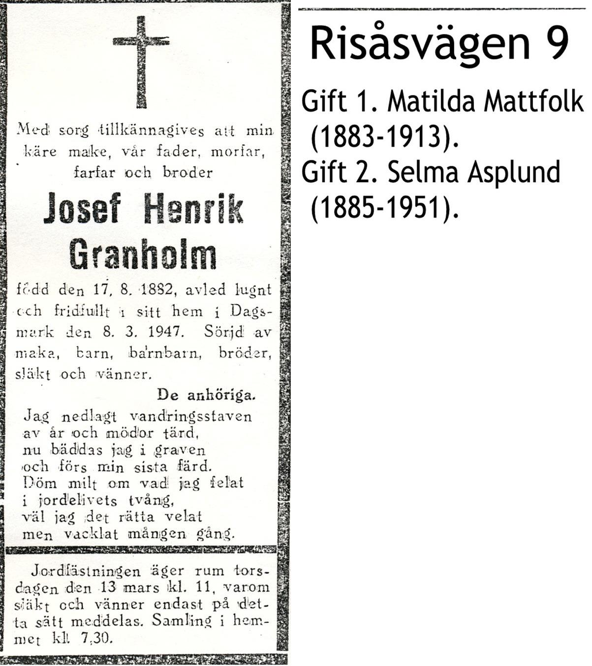 Granholm Josef Henrik